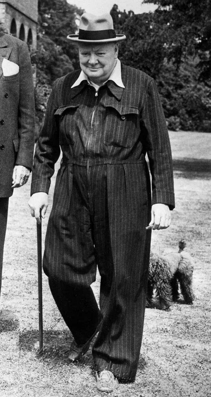 Prime-Minister-Churchill-is-a-big-jumpsuit-fan-and-he-wears-Python-skin-shoes-to-match-jumpsuit