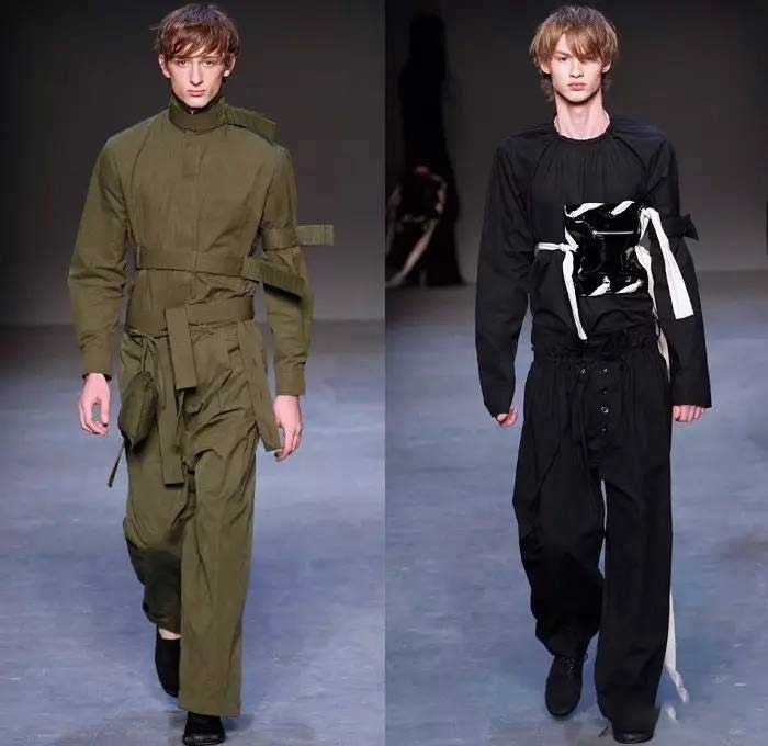To be more masculine, dress like a Ninja or chivalrous man by pilling on the details of their uniforms and coveralls.