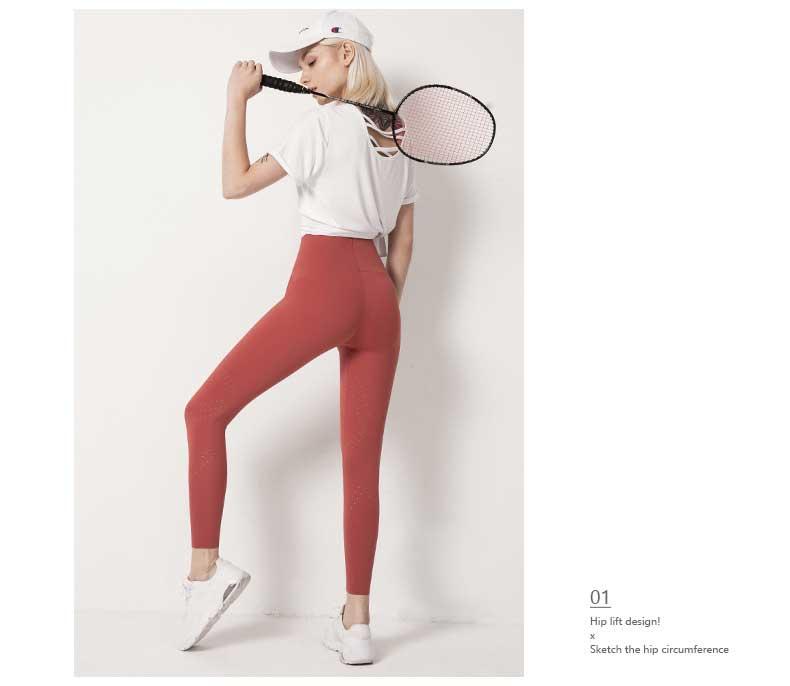 9 high waist hip-lift fitness yoga pants ,elastic leggings