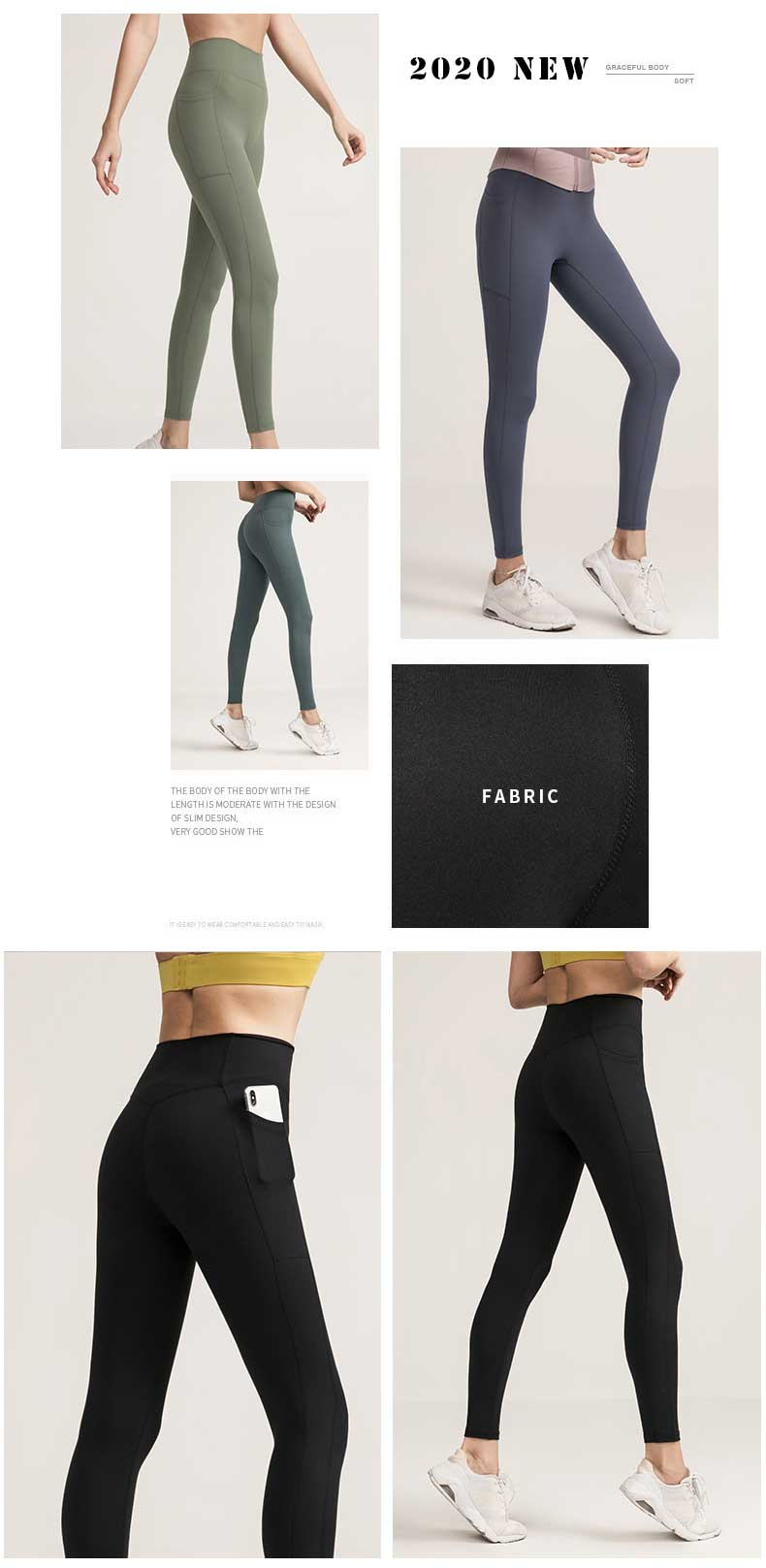 90% polyamide + 10% spandex is designed with elastic side stretch, which can meet the needs of any sports training, whether it is running, yoga, fitness or large weight anaerobic exercise