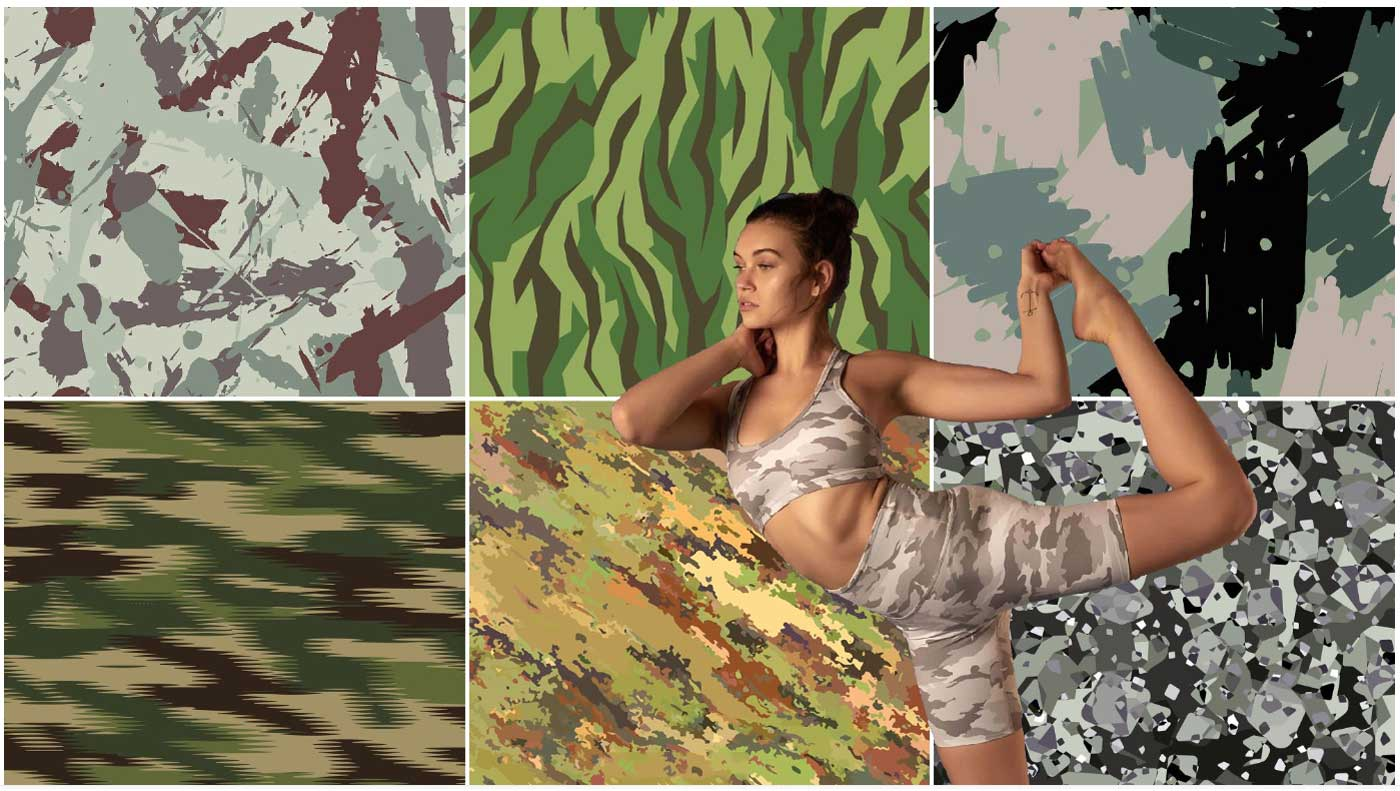 Burning Camouflage - Design Recommendation For sportswear