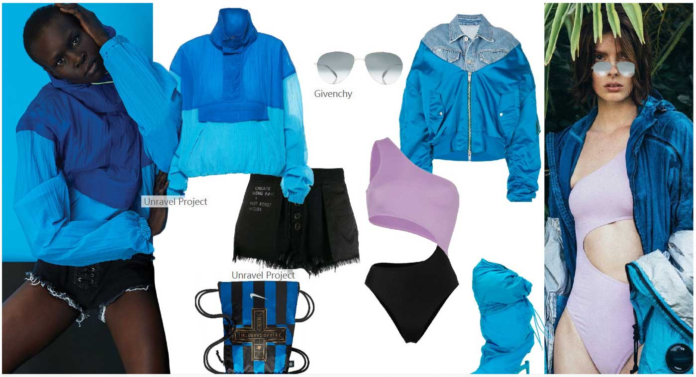 Cyan-Blue----Group-matching-womens-sportswear