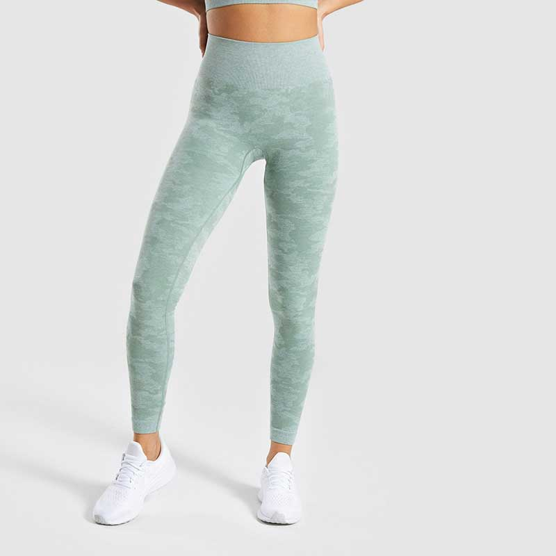 Green-camouflage-jacquard-leggings-front
