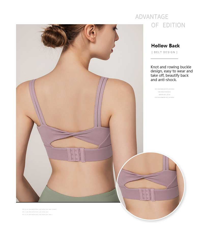 High-support-sports-bra-Hollow-back-knot-and-rowing-buckle-design,-easy-to-wear-and-take-off,-beautify-back-and-anti-shock