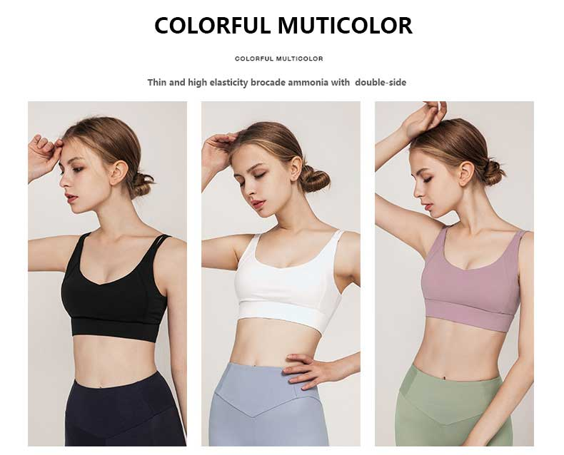 High-support-sports-bra-Thin-and-high-elasticity-brocade-ammonia-with--double-side