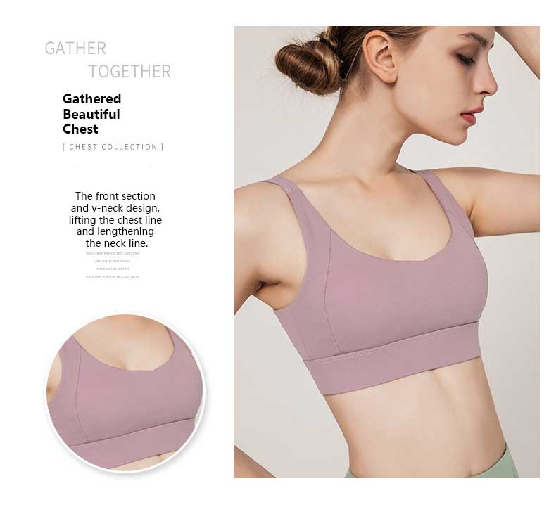 High-support-sports-bra-the-front-section-and-v-neck-design,-lifting-the-chest-line-and-lengthening-the-neck-line