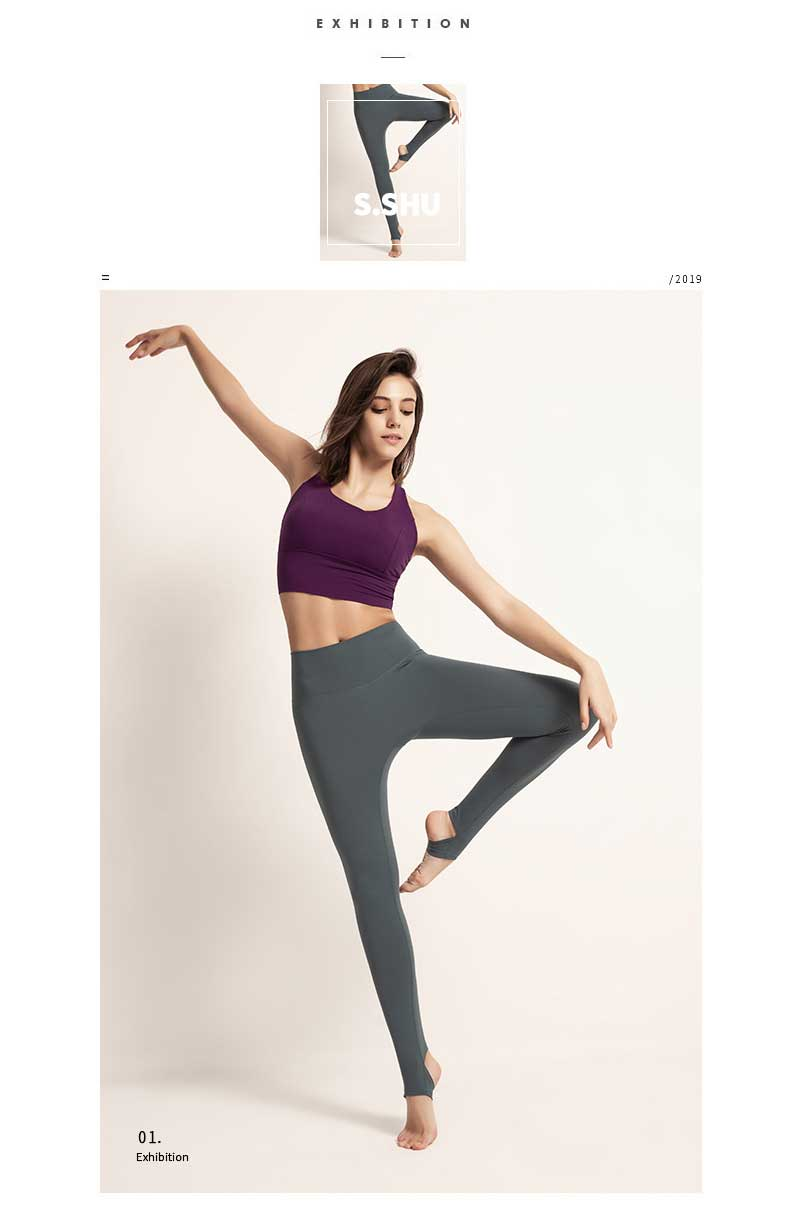 High-waisted-yoga-pants-ankle-design-model-show