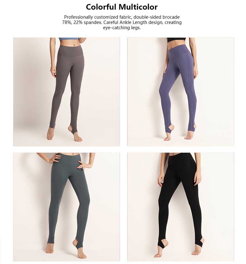 High-waisted-yoga-pants-ankle-length-colorful-multicolor