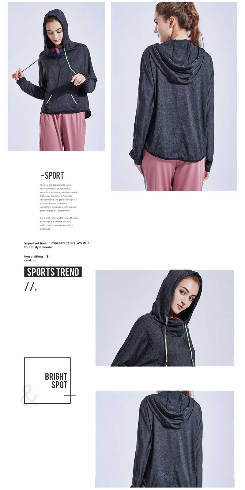 Hoodie design high collar hoodie design, keeping warm neck is essential to autumn and winter chioces