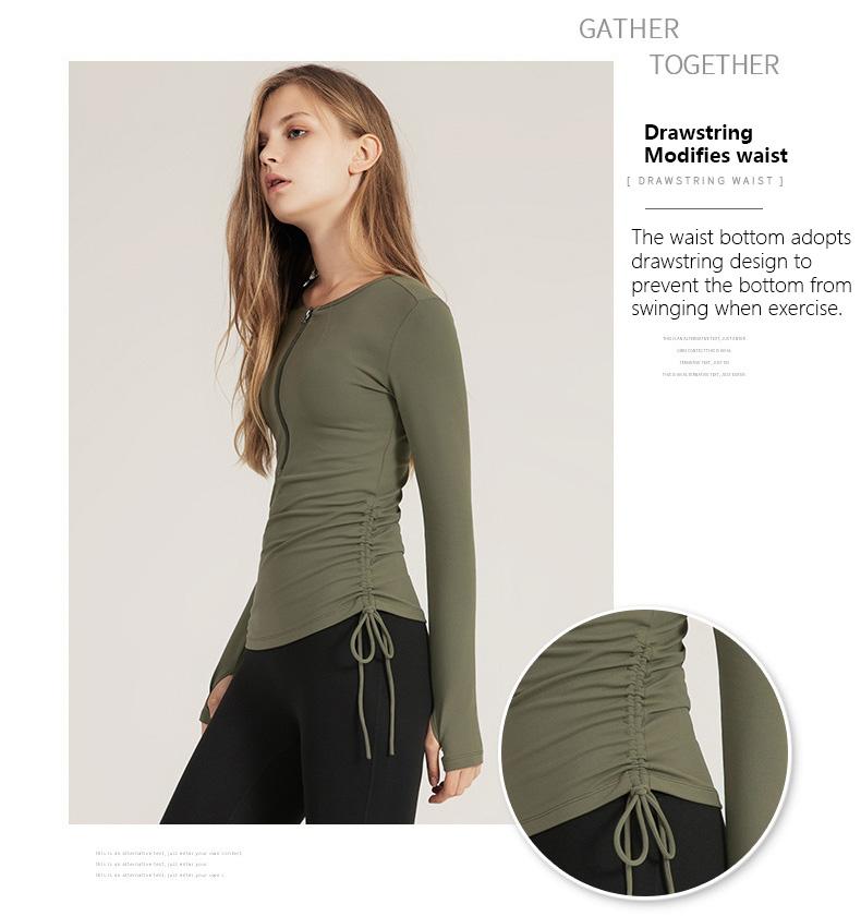 Long-sleeve-workout-shirt-fashion-Drawstring-design