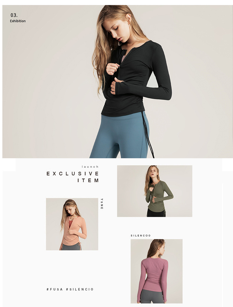 Simple and fashionable design, matching a yoga bra inside casually can go out easily