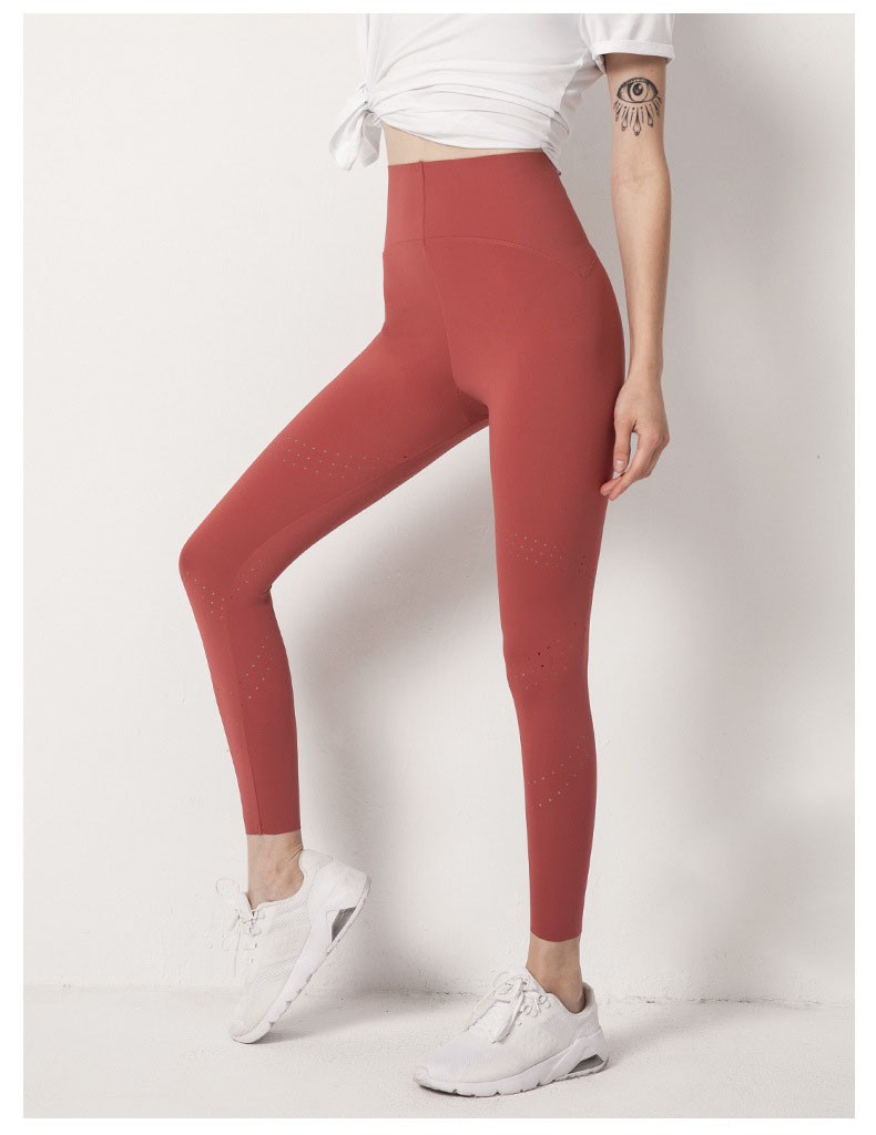 The fitness leggings high waist fabric is made of moisture absorption