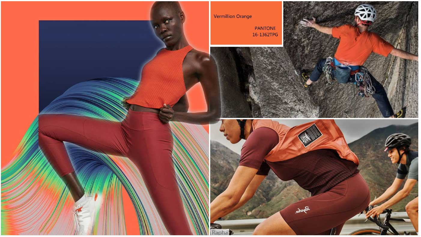 Vermillion Orange Inspiration For Womens Sportswear Theme