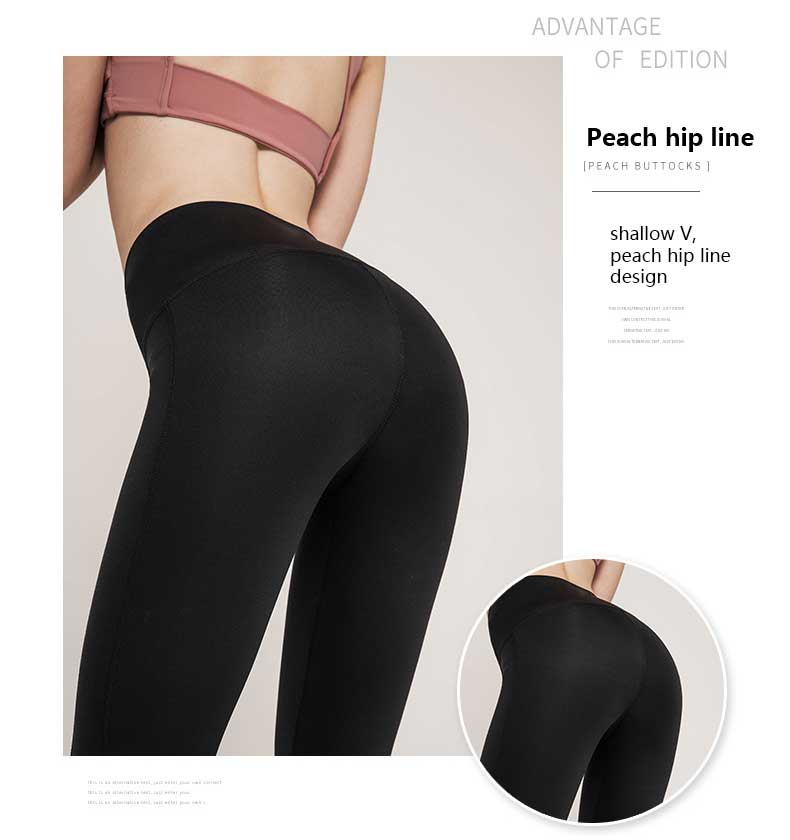 Yoga-dance-pants-shallow-V-peach-hip-line-design