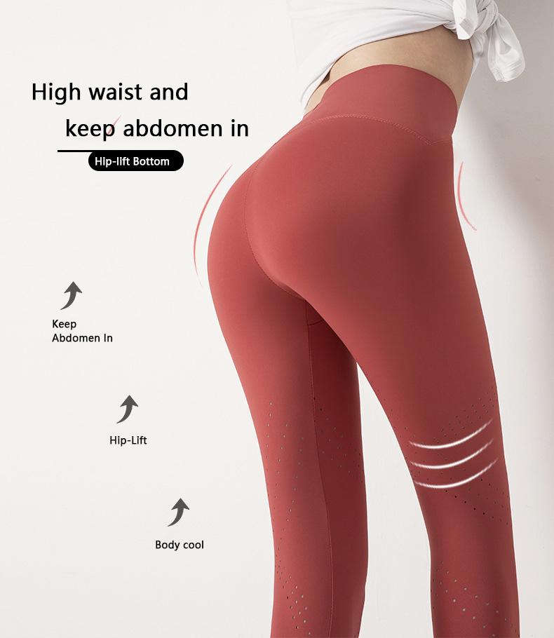 fitness leggings high waistband and keep abdomen