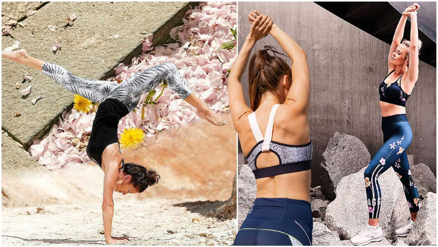 the use of natural language to create eye-catching yoga patterns and unconventional unique design has become the trend of sports fashion
