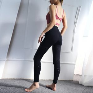 High waisted gym leggings double sided polyamide