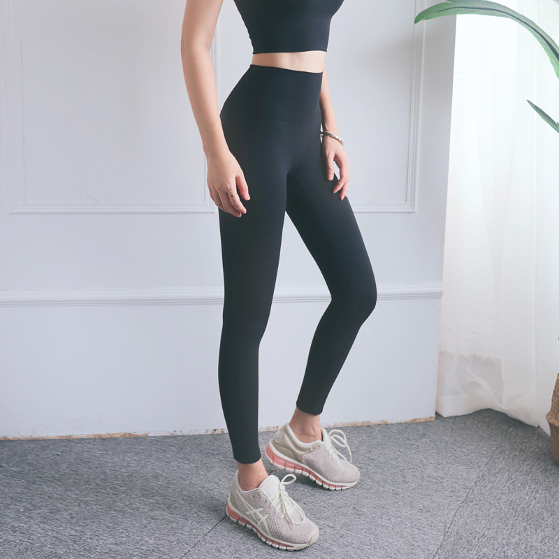High waisted workout leggings slim naked feeling female exercise pants no embarrassment seam of lifting peach hip yoga pants