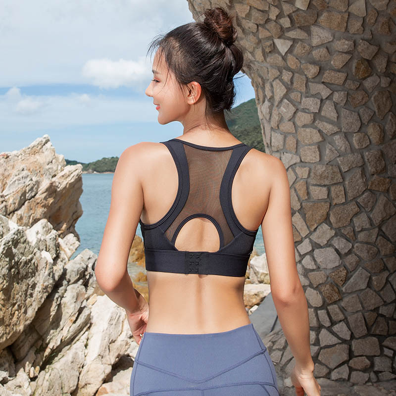 This Underwire sports bras racerback with vest cutting,good performance of wrapping,sports without burden.