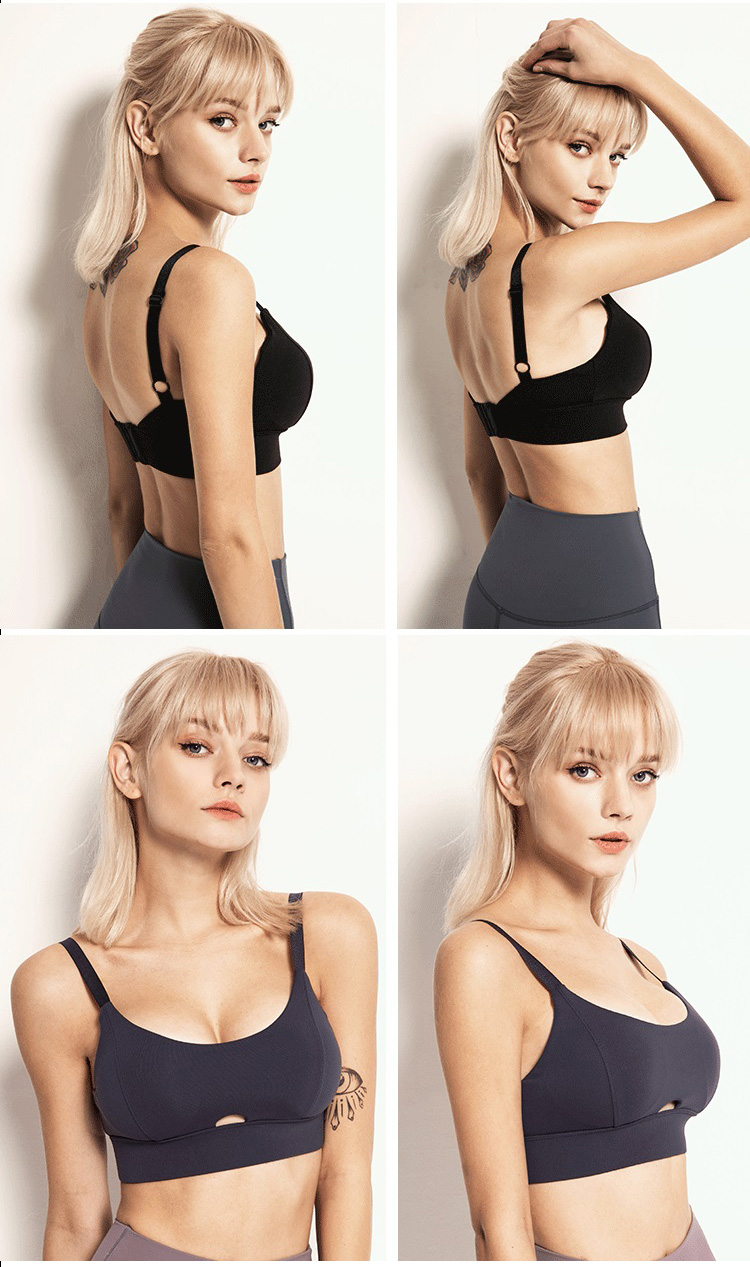 adjustable-sports-bra-gathered-chest-with-v-neck-design