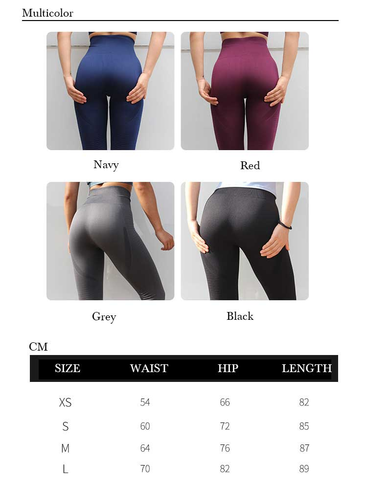 Seamless-leggings-high-waisted-design-multicolor-and-size-chart