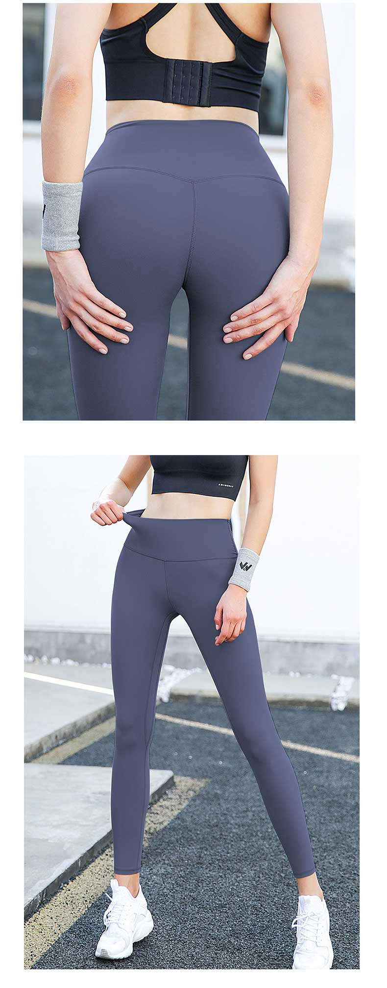 High elasticity and wear resistance, breathable and comfortable compression running tights.