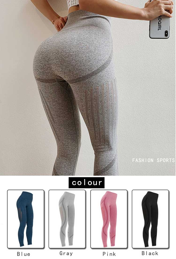 Hollow out seamless yoga pants with multi color for you choice