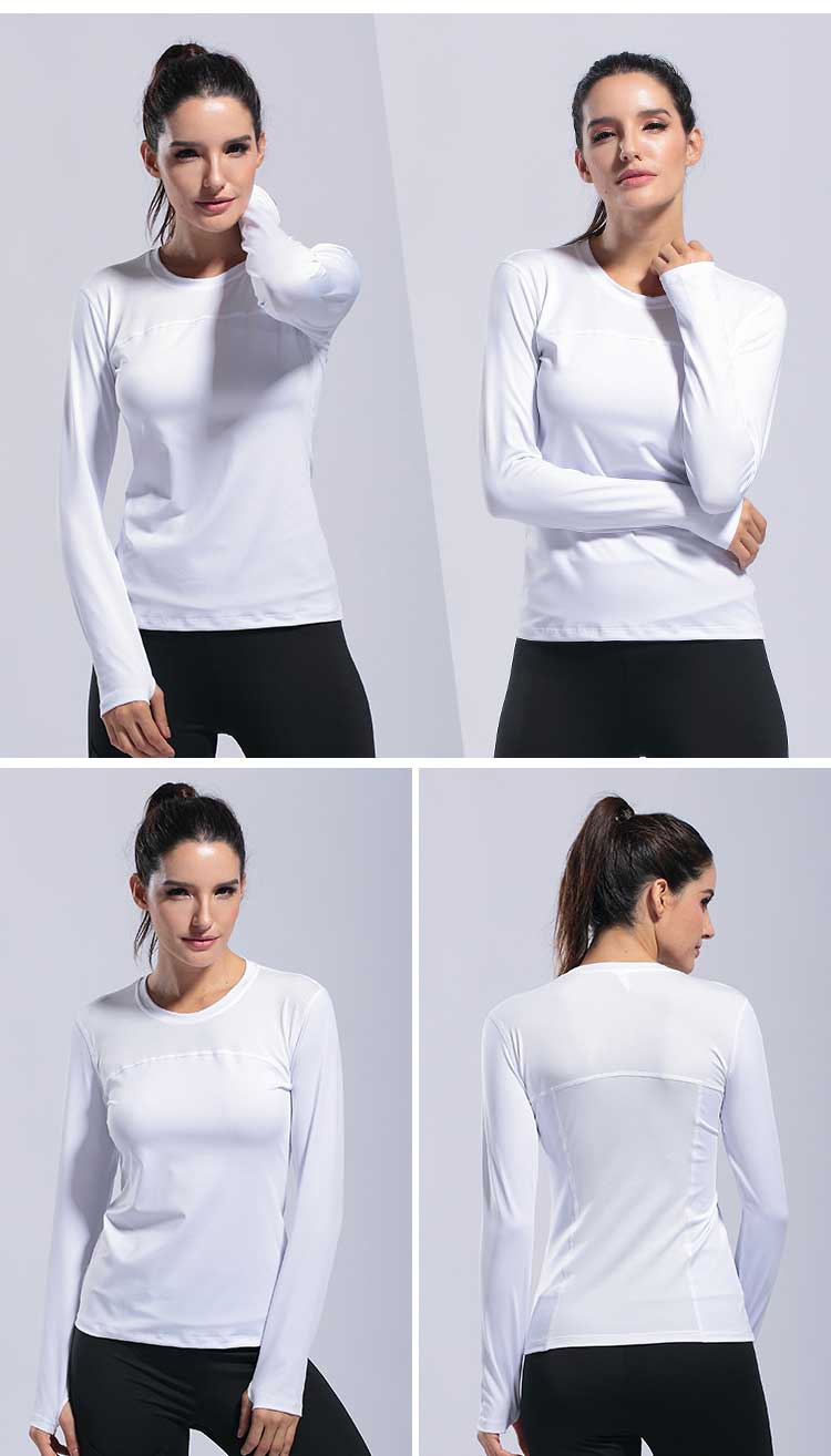 Long sleeve workout shirts women's is designed for sports. It is made of light and thin material. You can wear it for daily street or sport fitness