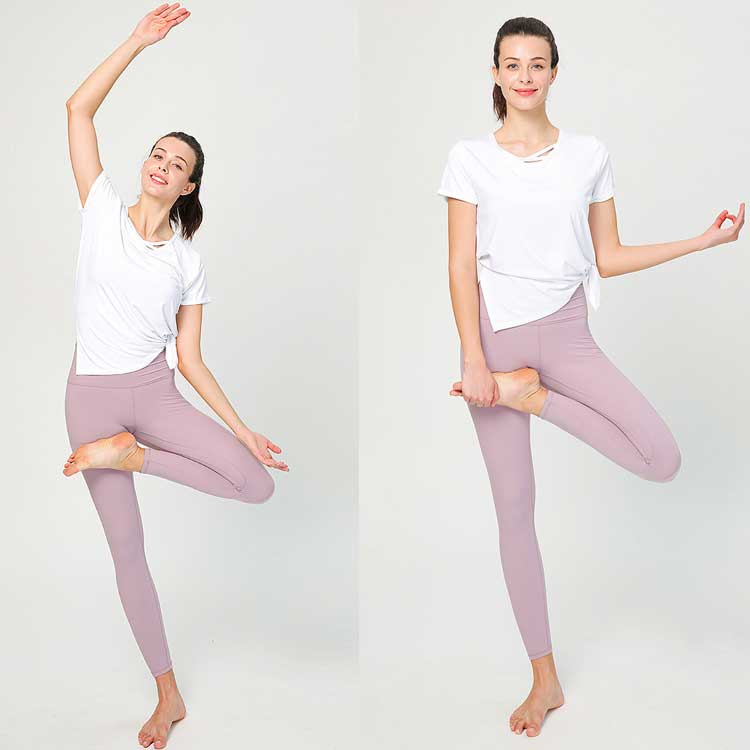 Polyamide double-sides grinding fur elastic hip-lifted high waist leggings compression running tights