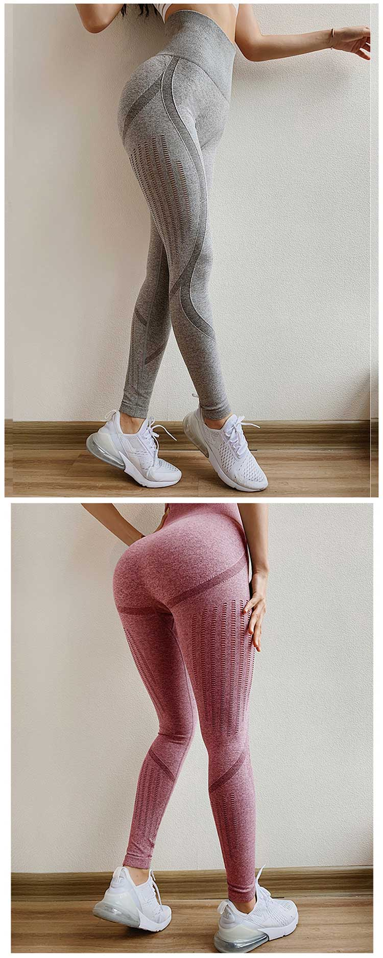 Seamless-yoga-pants-with-hollow-out-design-for-grey-and-red-color