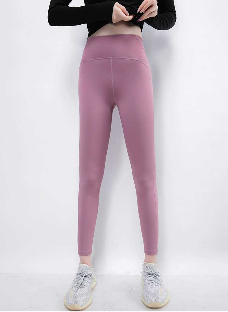 The fabric of this sports fitness pants is made of recycled fabric, which is recycled from bottles and waste textiles