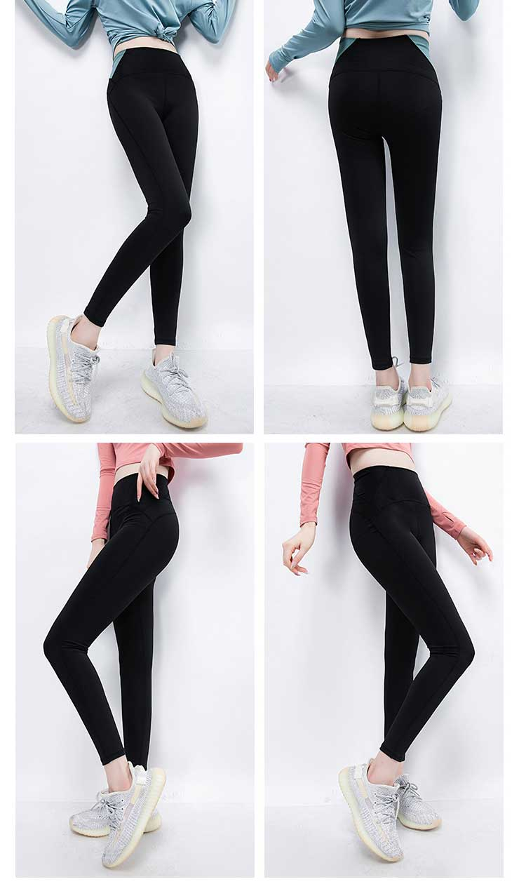 This hip lifting slim sport recycled leggings are tight with slim legs and full hips