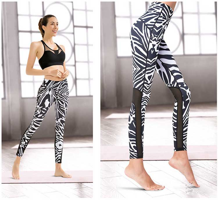 Zebra-print-mesh-leggings-Beautiful-hip-and-thin-leg
