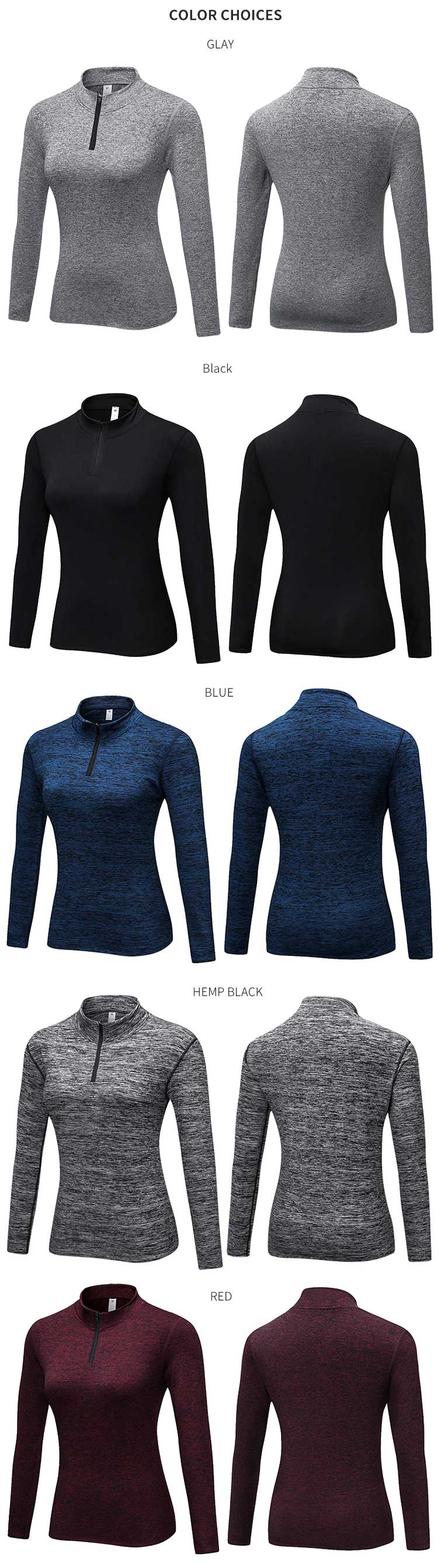 High-neck-workout-shirt-long-sleeve-shirts-color-choices