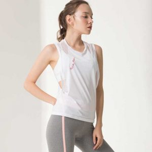 Loose workout tanks breathable running vest shirts