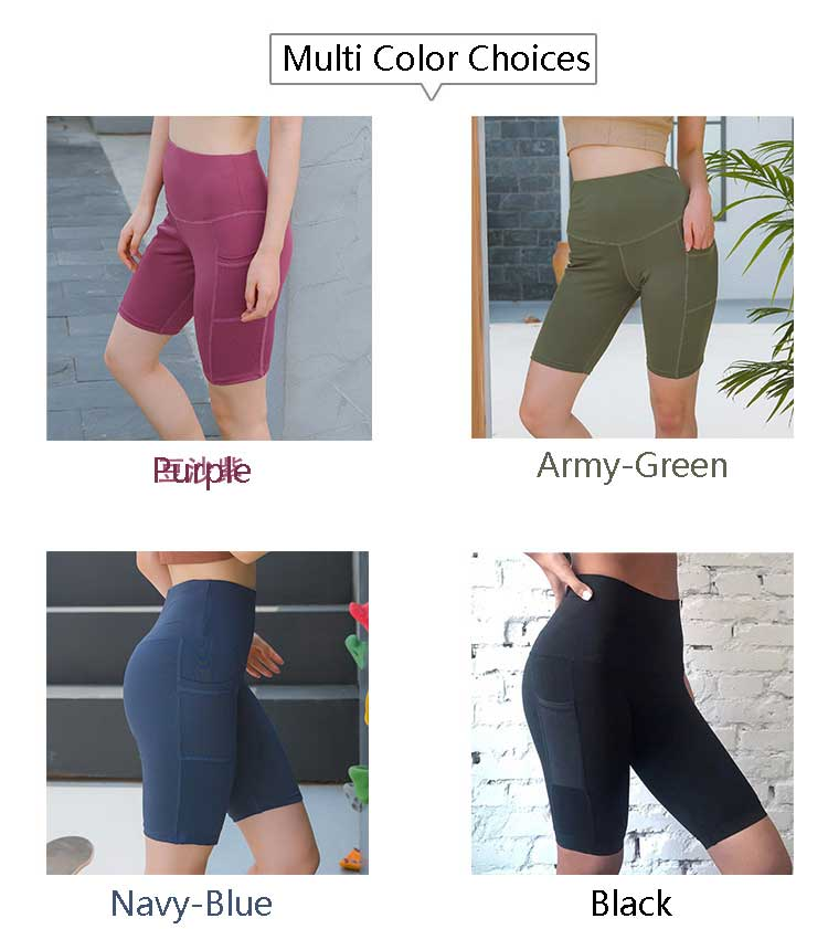 Running shorts with phone pocket high waist multi color choices