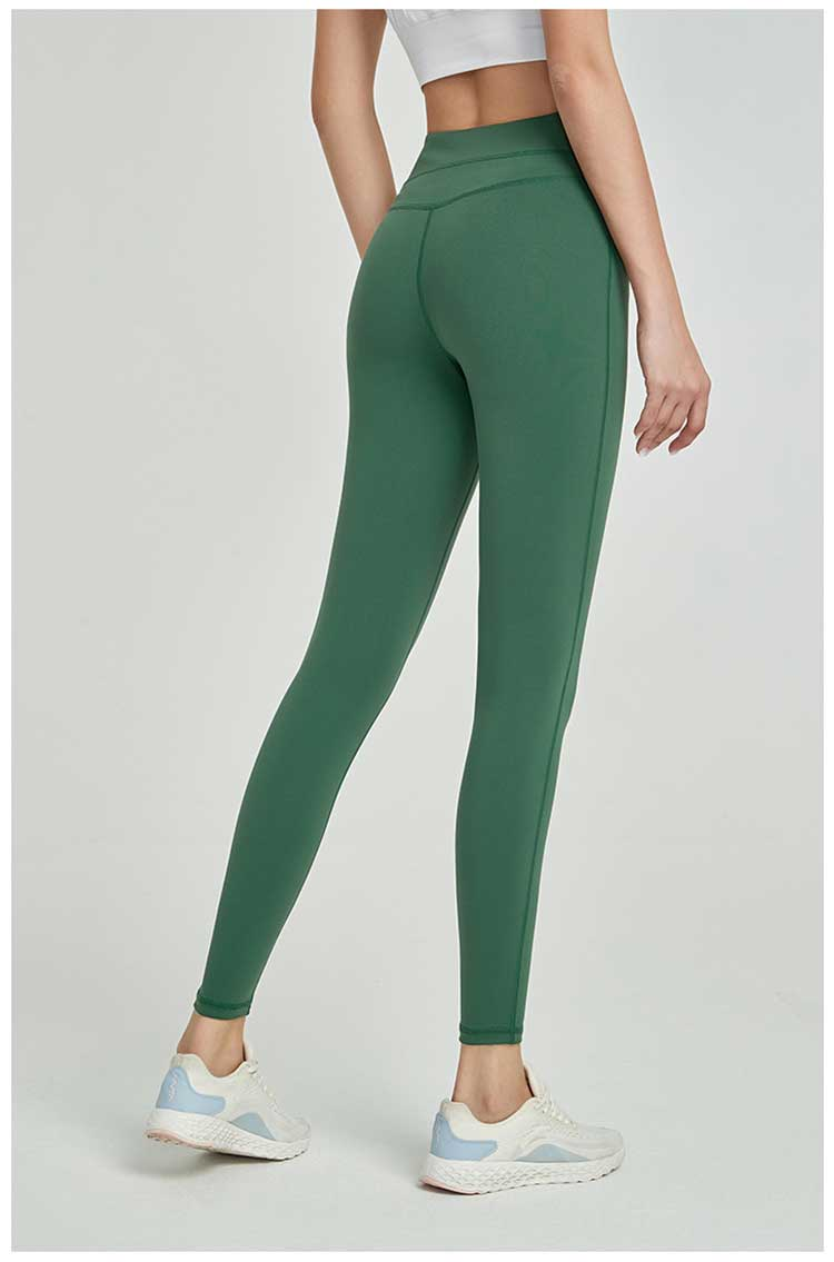 green-nylon-yoga-pants-workout-leggings