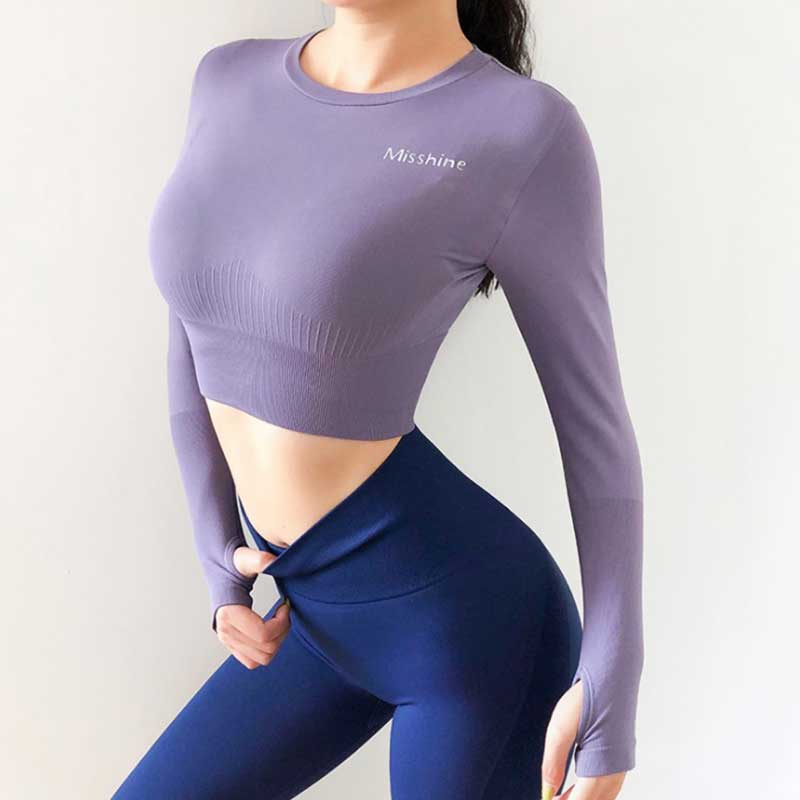 long sleeve exercise tops