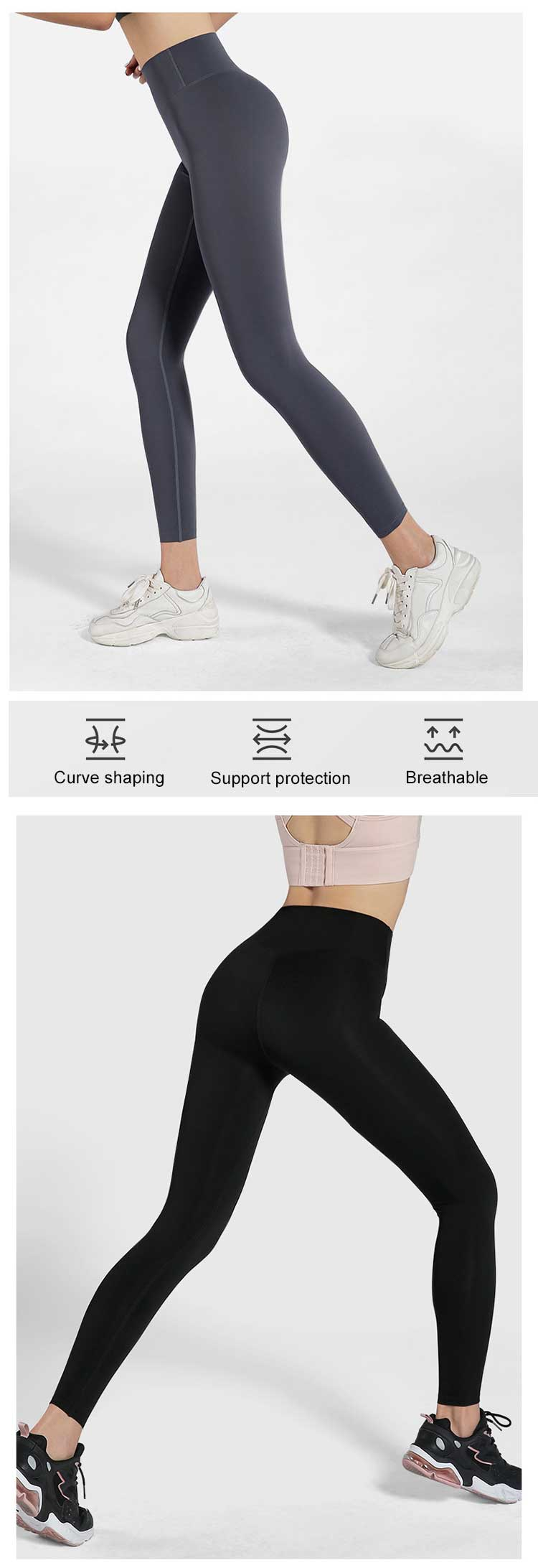 A seamless workout leggings made with superb seamless workmanship