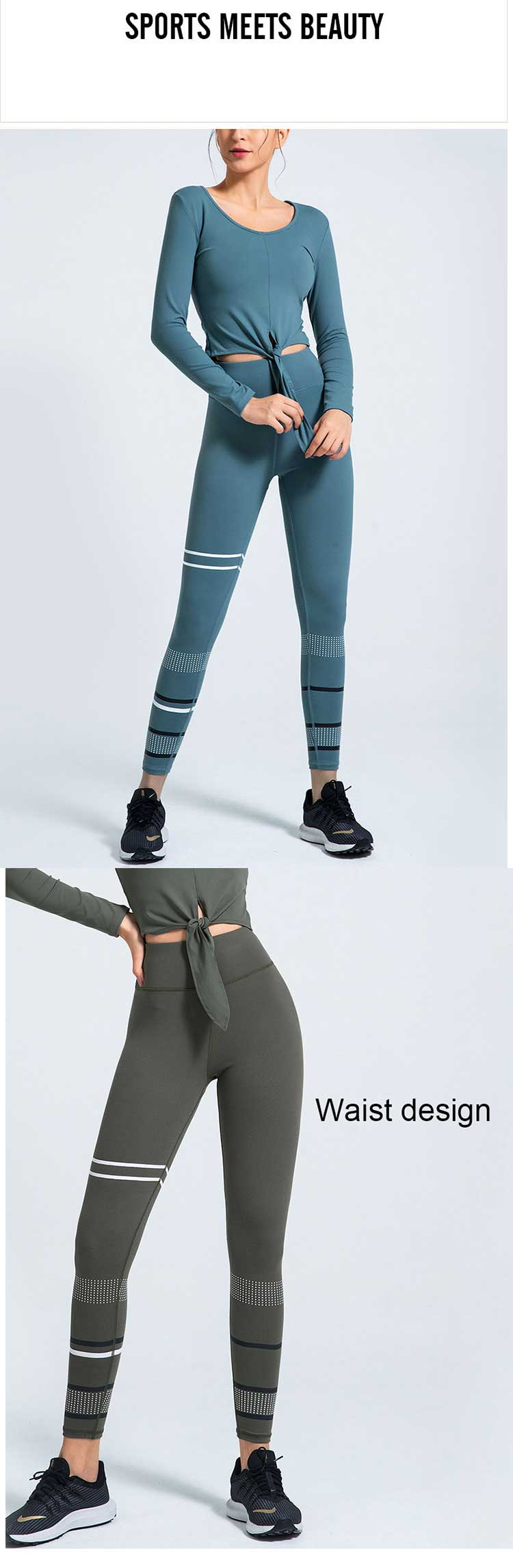 Classic-and-durable-straight-leg-yoga-pants,-with-a-solid-texture-and-performance
