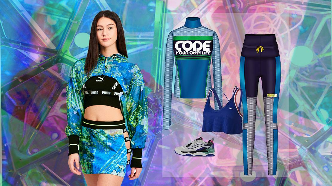 Retro-video-game-Women's-sportswear-group-collocation
