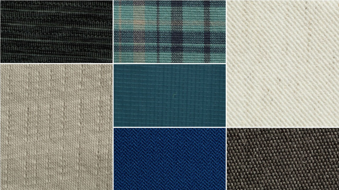 The-fabrics-with-reflective-or-transparent-laminate,-jacquard-and-high-and-low-pressure-texture-