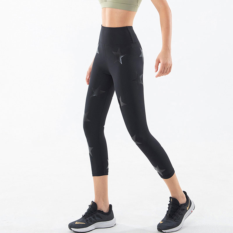 Star-print-workout-leggings
