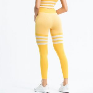 yellow athletic leggings