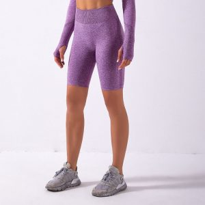Purple running shorts
