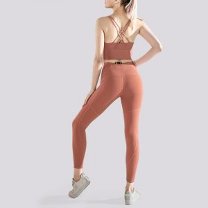 Ruched gym leggings