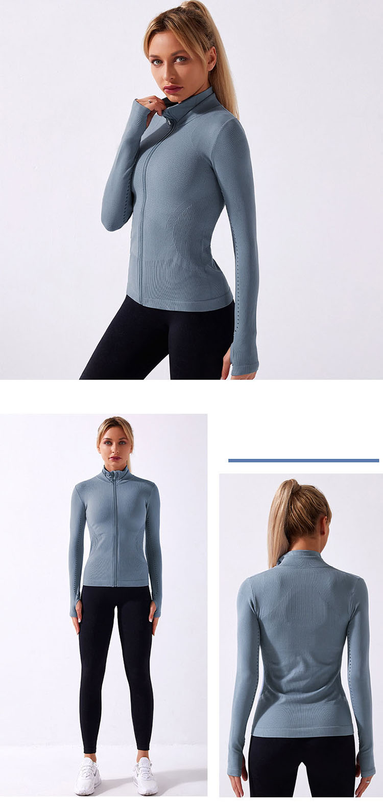 The theme of womens athletic jacket mainly uses the style of light sports