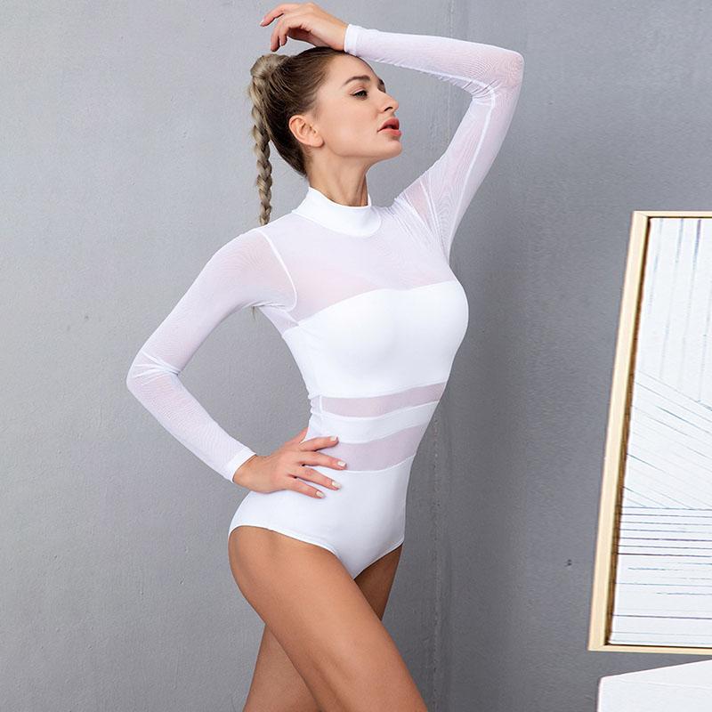 Dance leggings with mesh