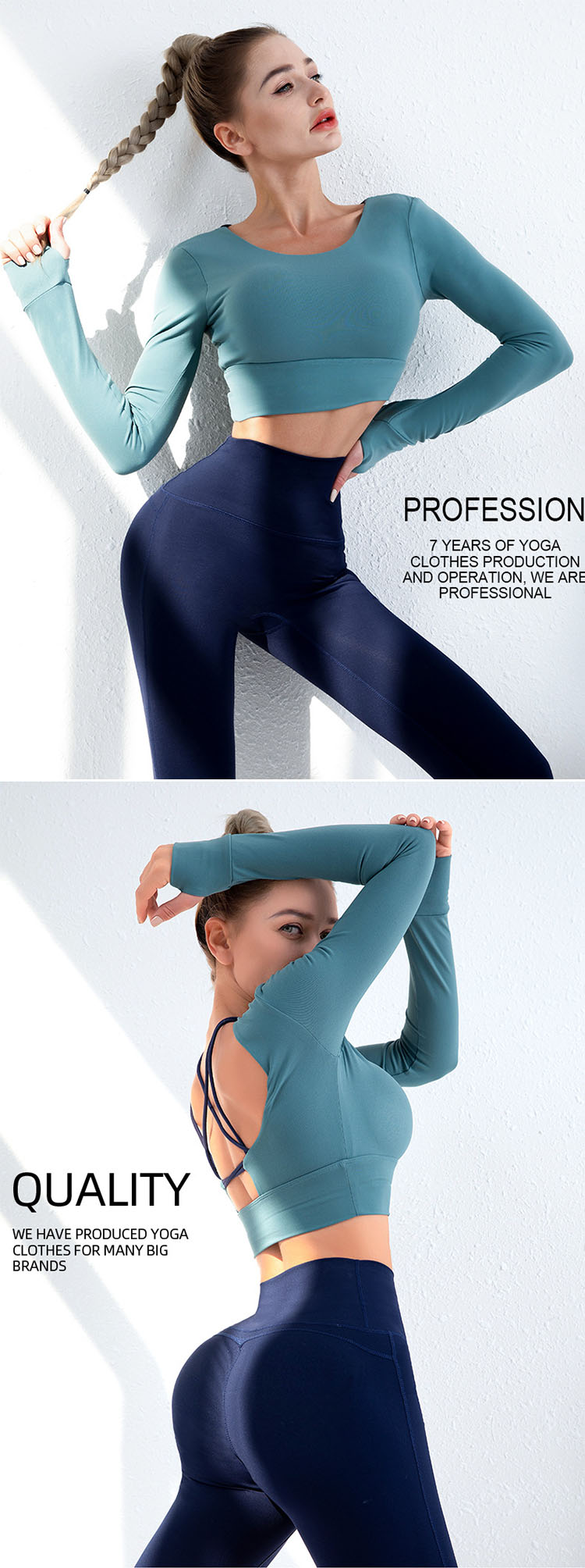 Generously reveals a sexy and beautiful back, accelerating sweating during exercise.