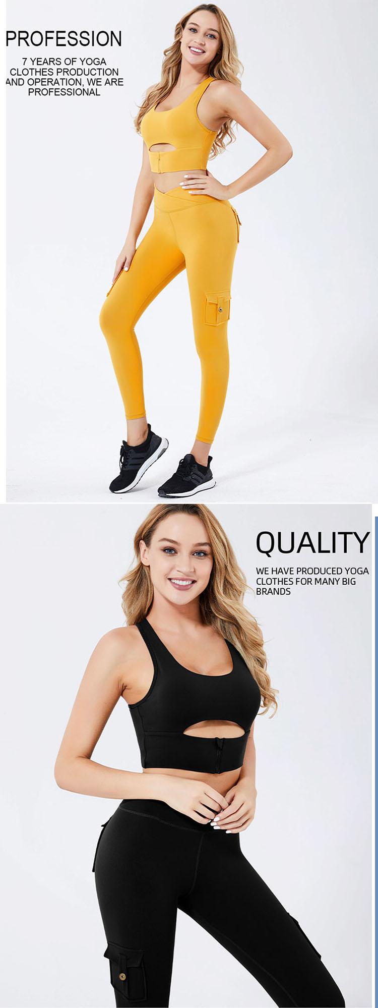 Mini patch pockets, zipper decorative pockets, and back waist pockets make yoga pants both practical and decorative